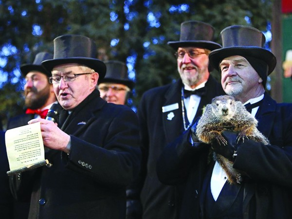 Punxsutawney Phil says winter is over!