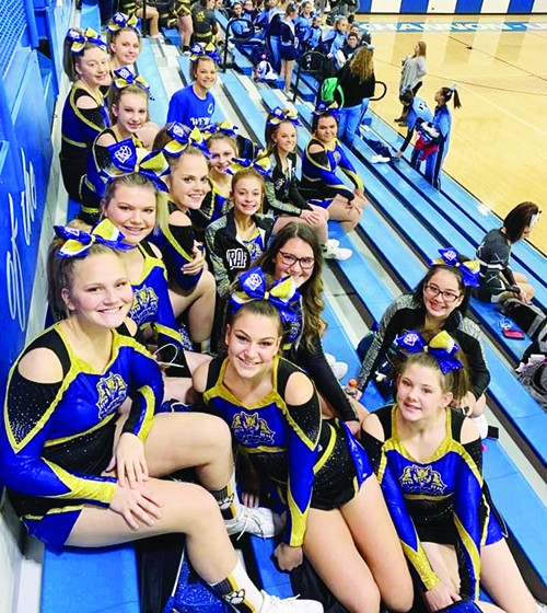 Grafton Cheerleaders finish seventh at Big 10 Competition - Mountain Statesman